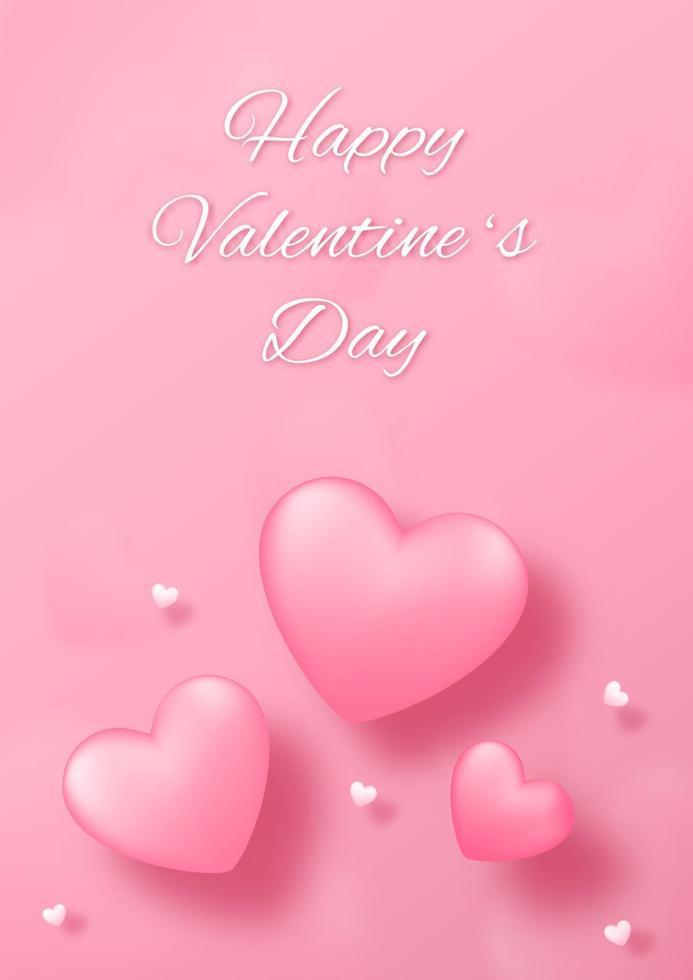 papperskonst med hjärta på rosa bakgrund. kärlek konceptdesign för glad mors dag, alla hjärtans dag, födelsedag. banner och hälsning mall design. vektor