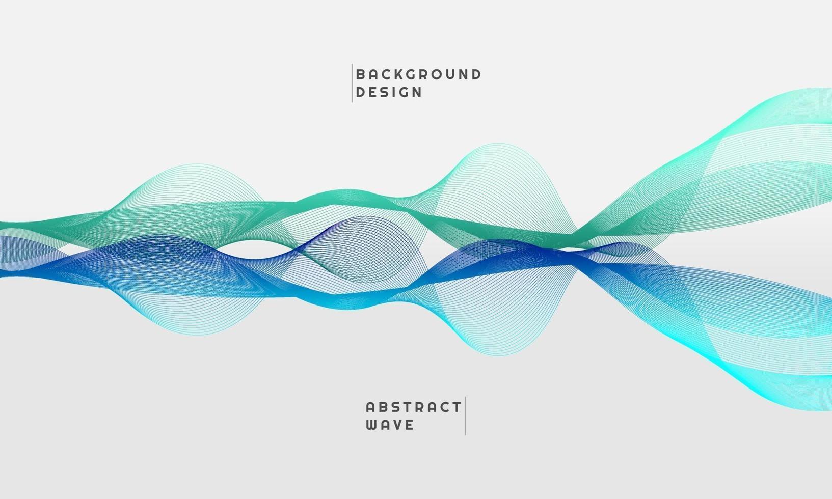 abstrakt vågelement för design, i grön och blå tonad färg vektor