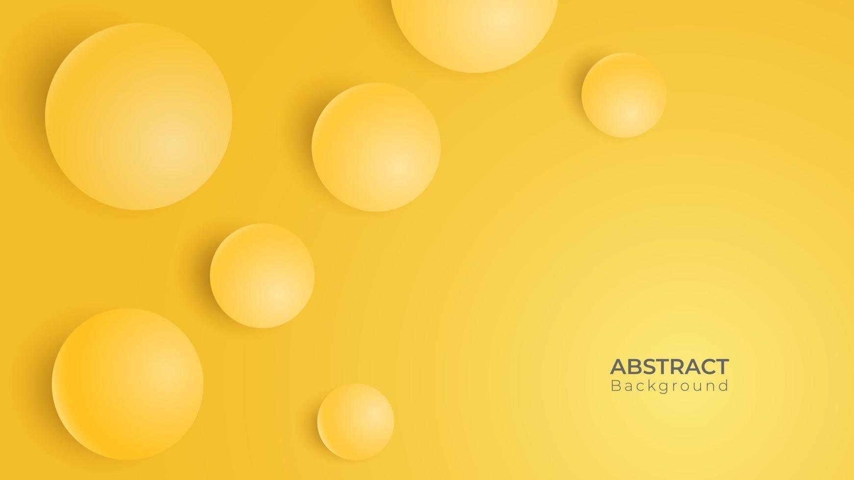 abstrakt 3d modern rund cirkel bakgrund. gul geometrisk banner. vektor konst illustration