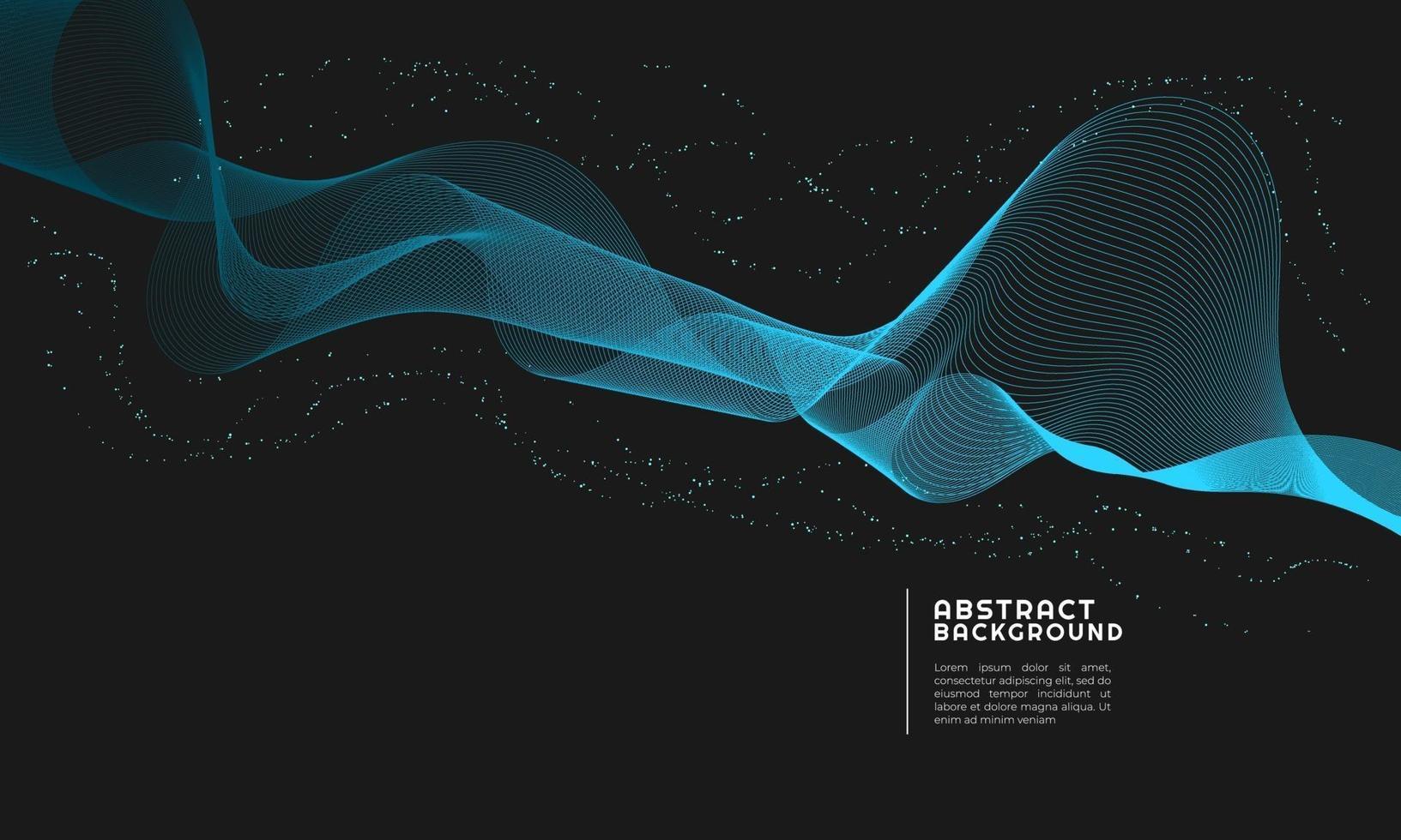 abstrakt bakgrund moderna ljusblå kurvor vektor
