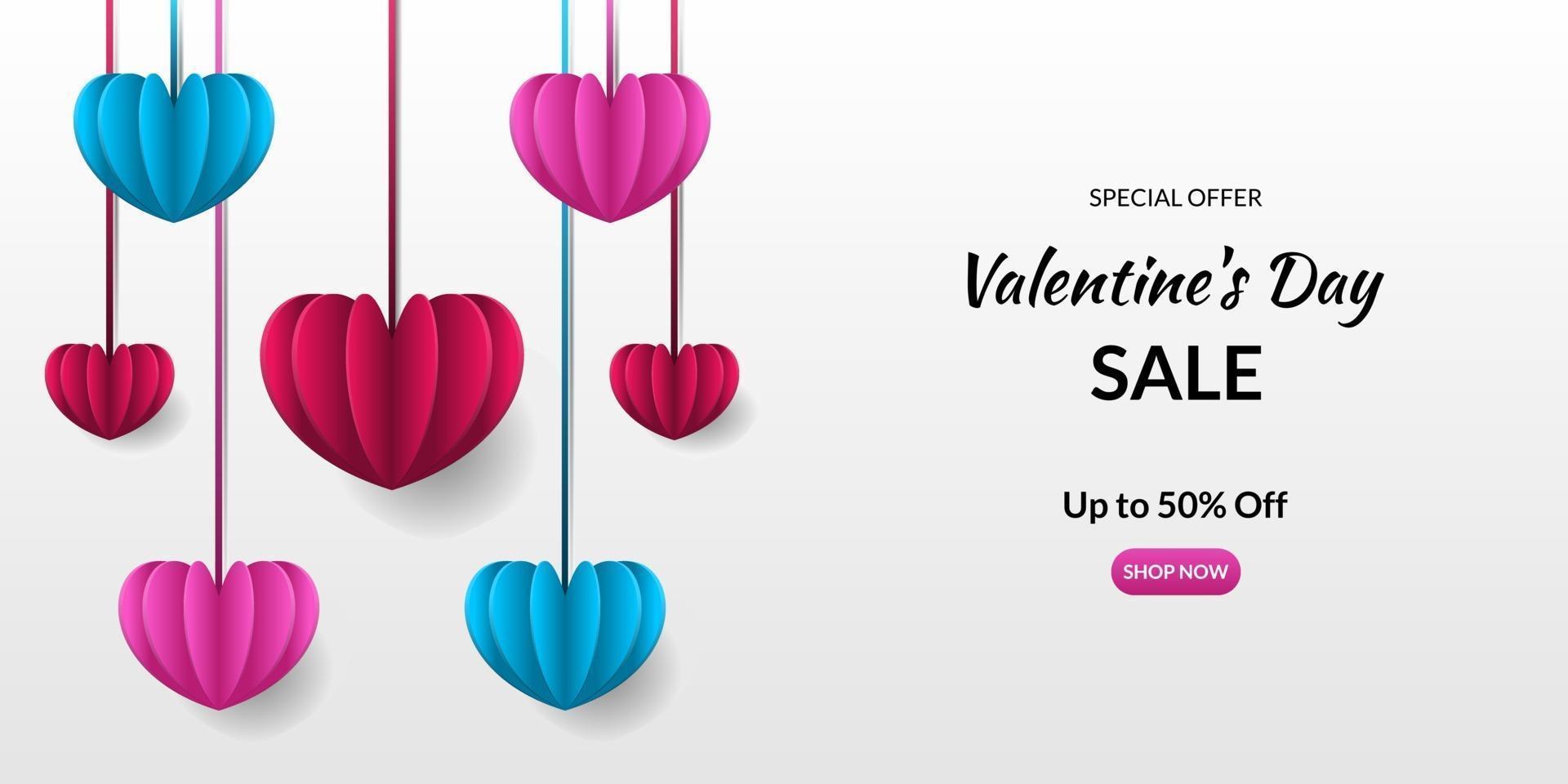 romantischer Valentinstaghintergrund vektor