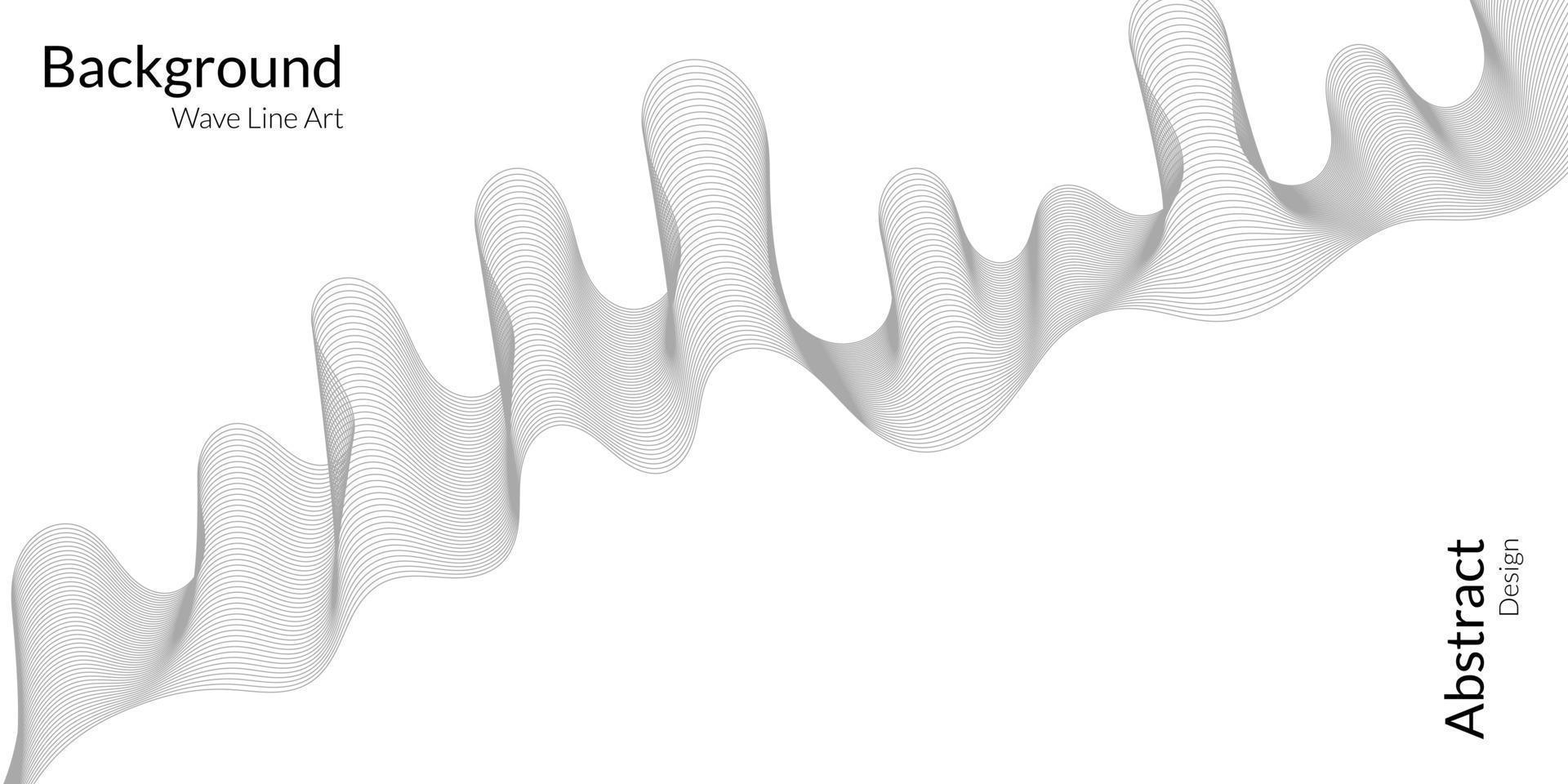 modern abstrakt bakgrund med grå vågiga linjer vektor