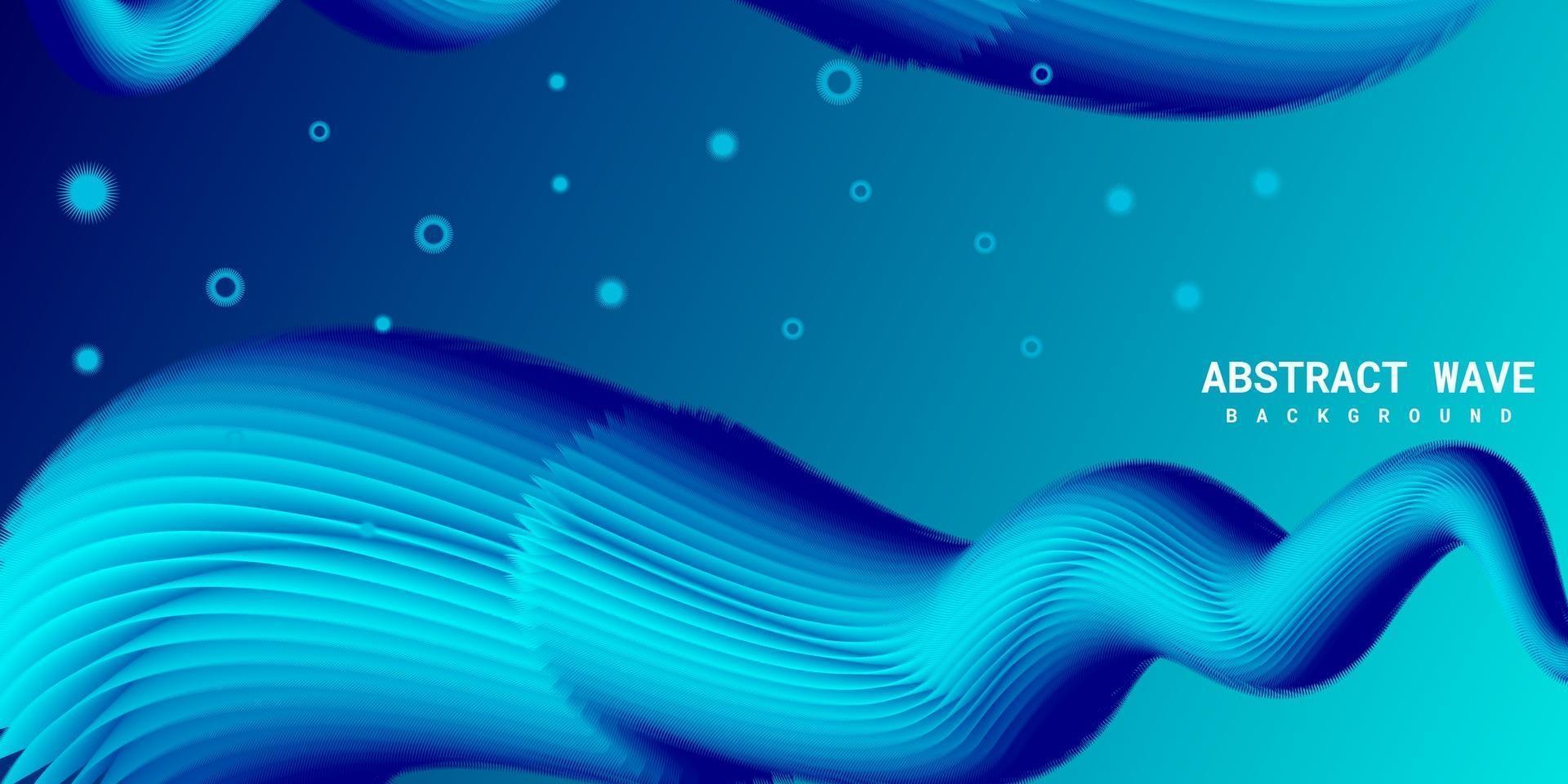 moderner abstrakter flüssiger 3d Hintergrund mit blauem Farbverlauf vektor