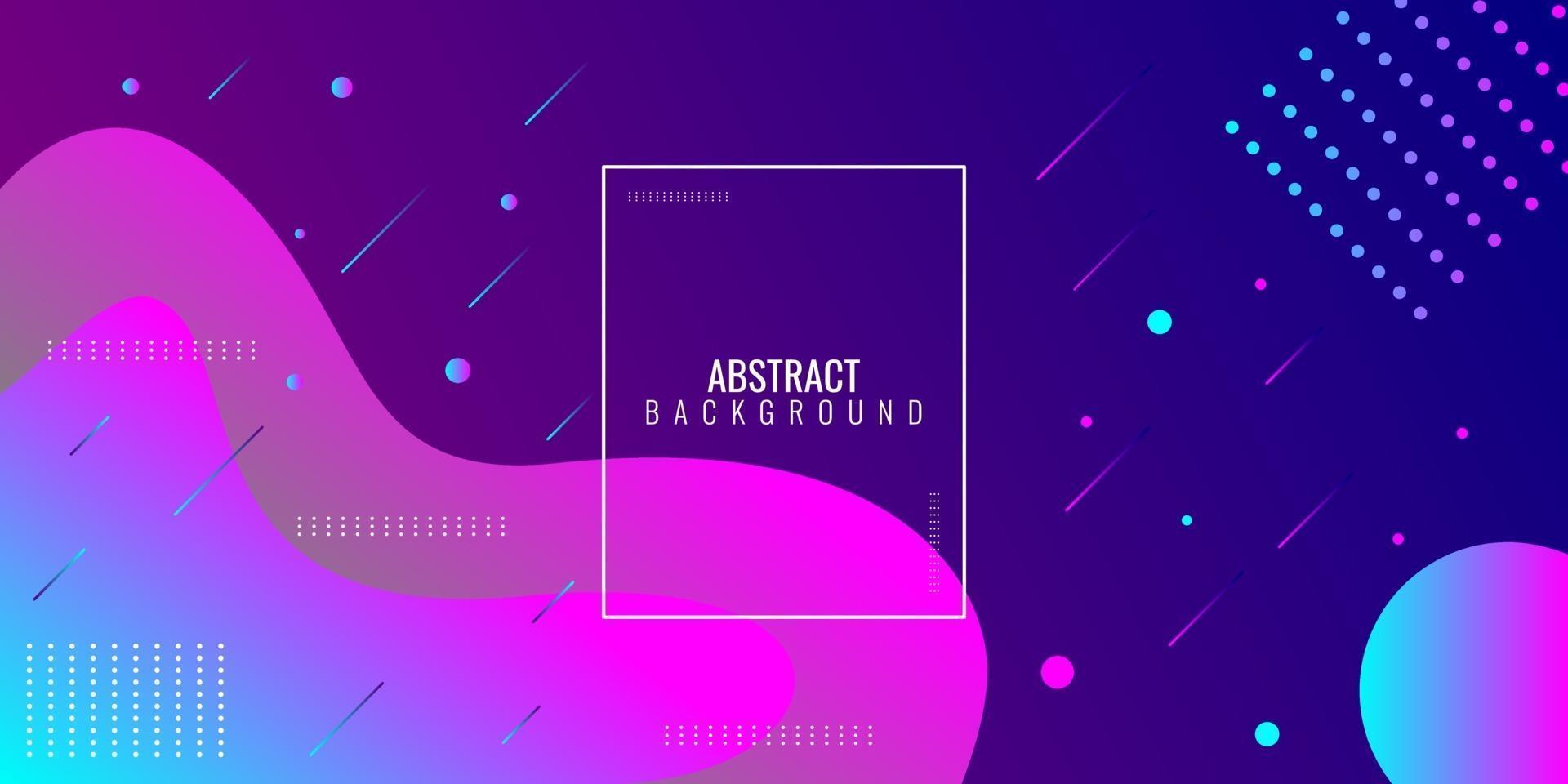 moderne abstrakte lila und blaue Farbverlaufswellengeometrie vektor