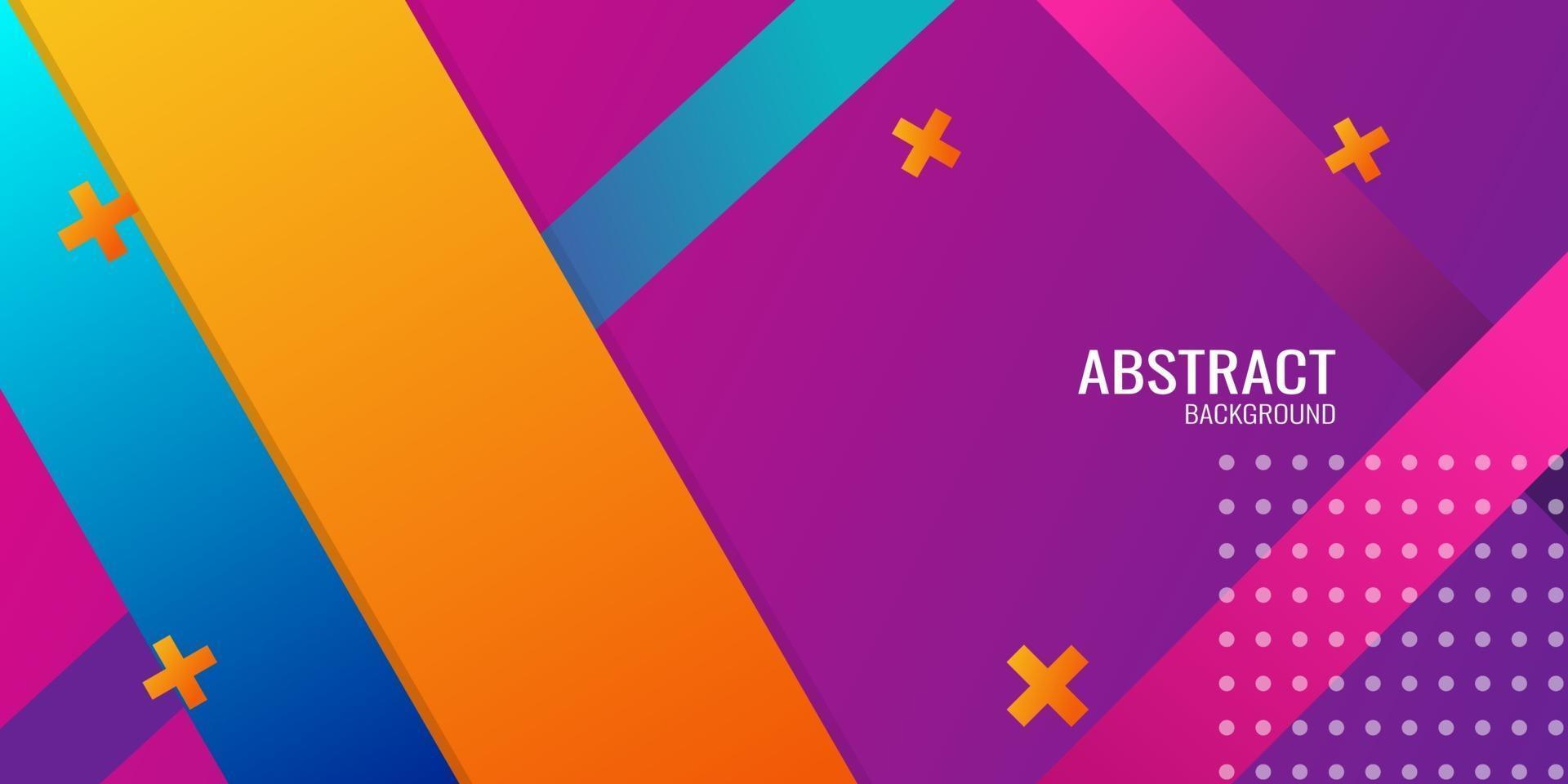 färgglad abstrakt geometrisk bakgrund vektor