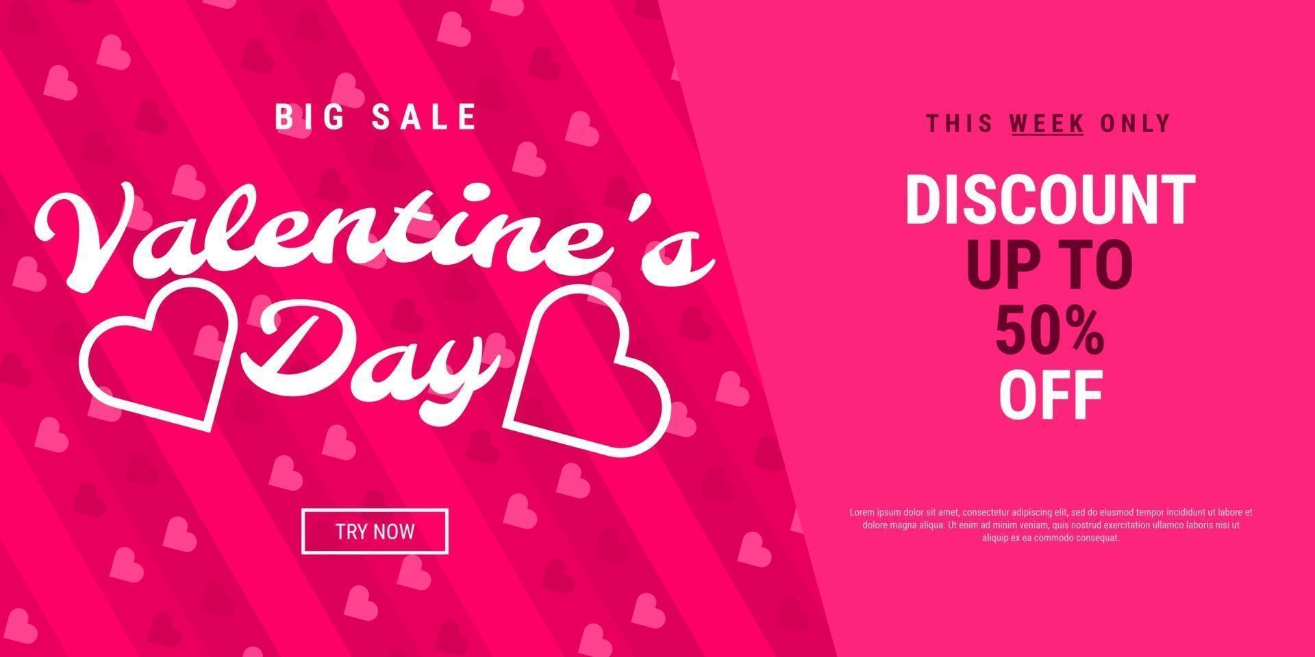 Alla hjärtans dag försäljning bakgrund vektor