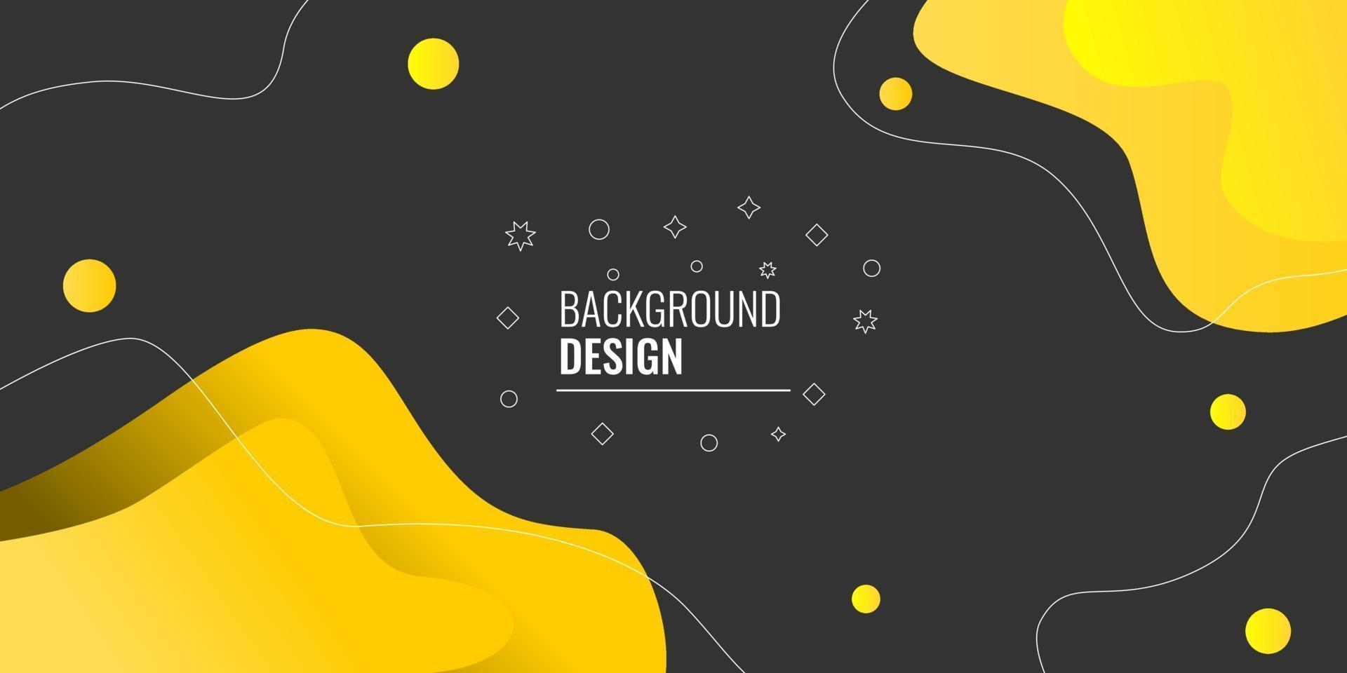 modern abstrakt gul gradient vågig geometrisk vektor