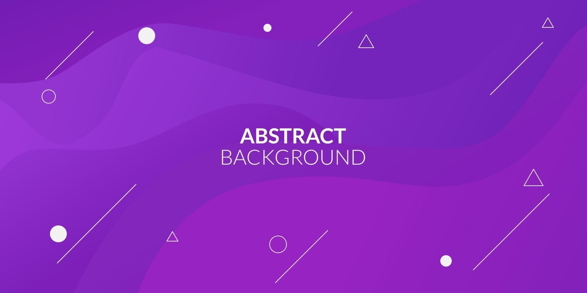 moderne abstrakte lila Farbverlauf geometrisch vektor
