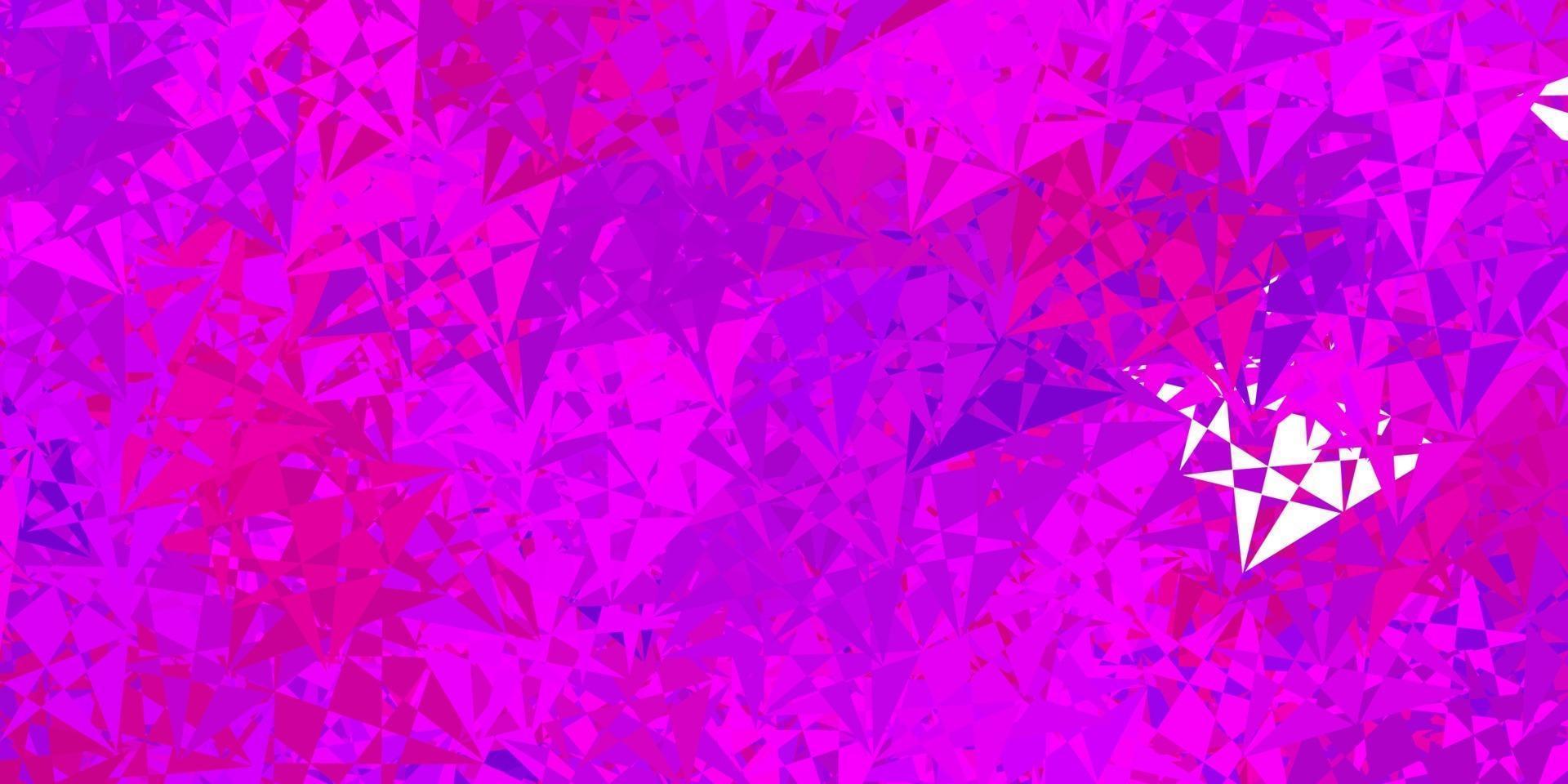 ljuslila, rosa vektormall med triangelformer. vektor