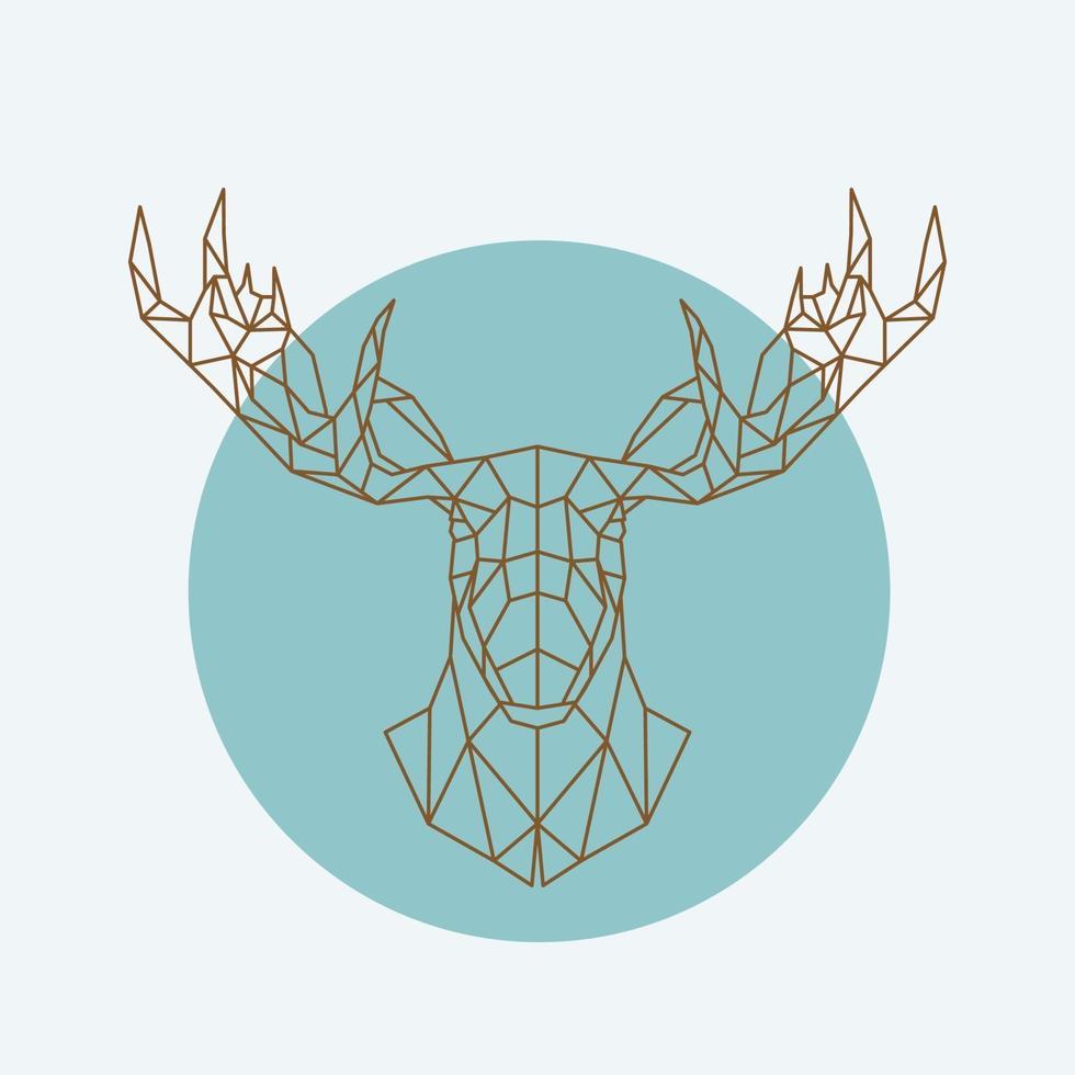 geometriskt älghuvud. vilda djur zoo. vektor