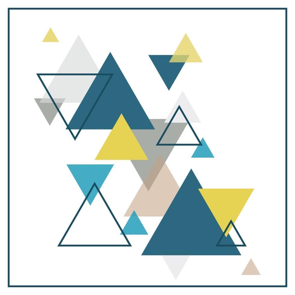 abstrakt skandinavisk bakgrund bestående av mångfärgade trianglar. vektor