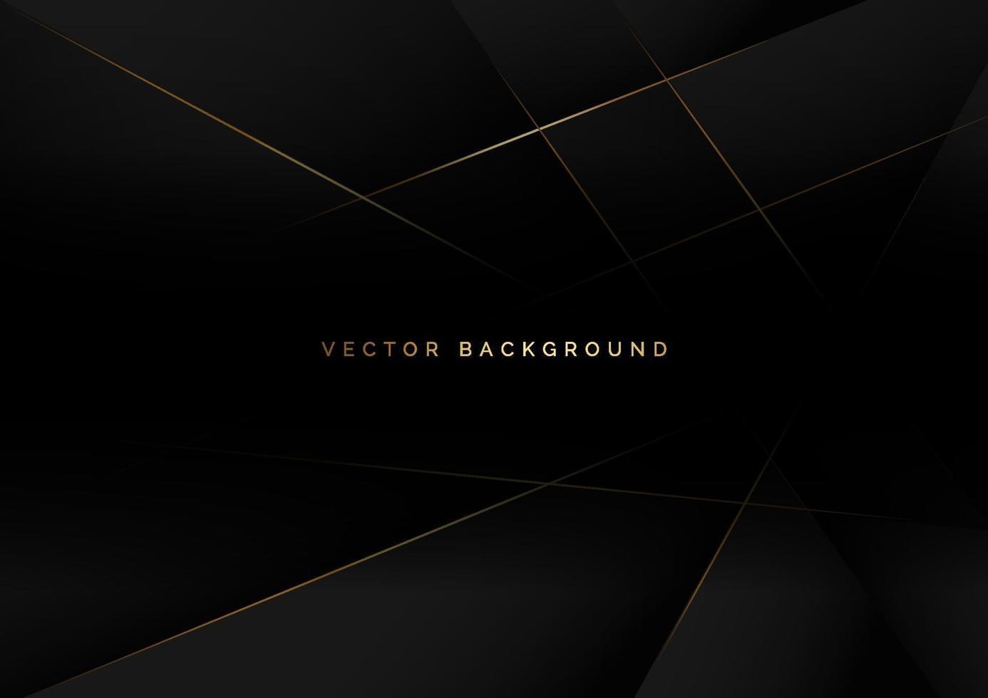 abstrakter schwarzer Luxushintergrund mit goldener Linie diagonal. vektor