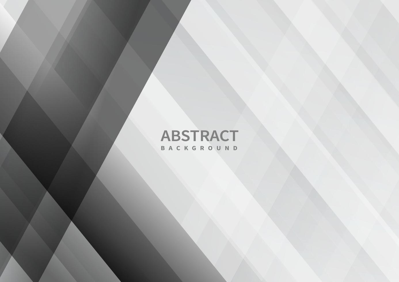 abstrakt grå och vit geometrisk överlappande bakgrund. vektor
