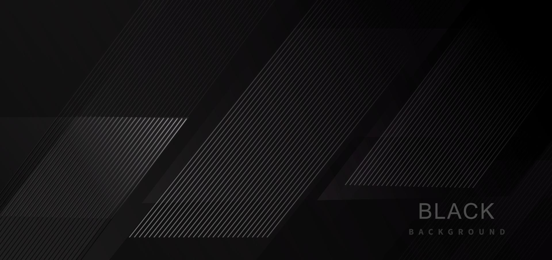 svart abstrakt tech geometrisk modern randlinje bakgrund. vektor