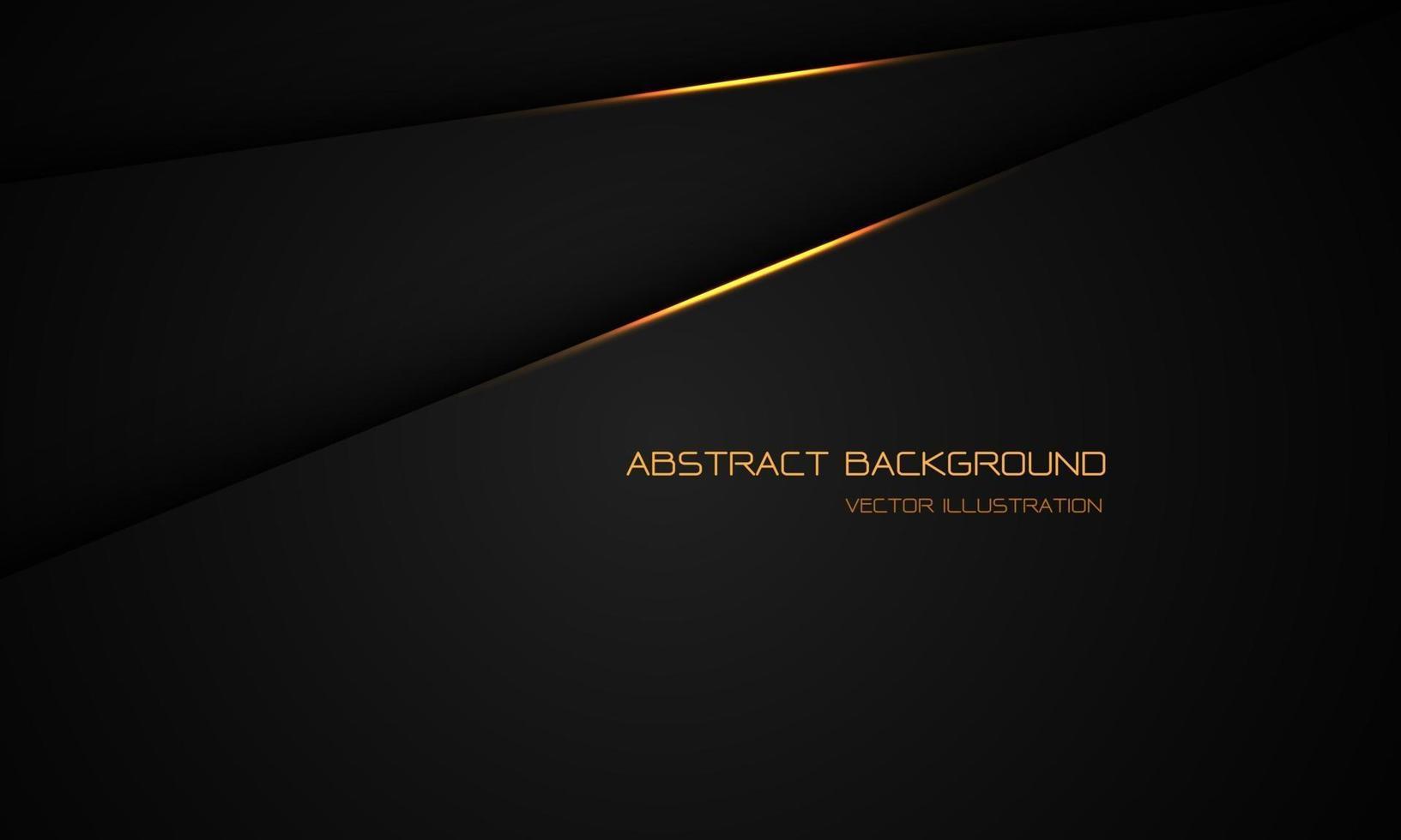 abstrakt guld ljus på svart metallisk skugga överlappar med tomt utrymme design modern futuristisk bakgrund vektorillustration. vektor