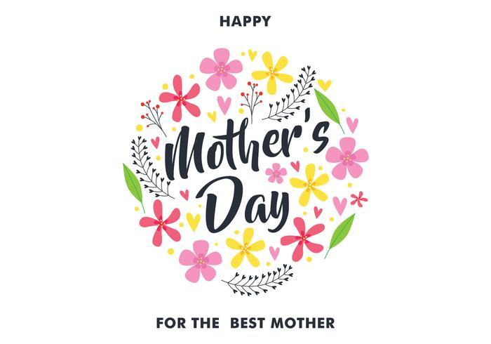 Lycklig mors dag hälsningskort vektor