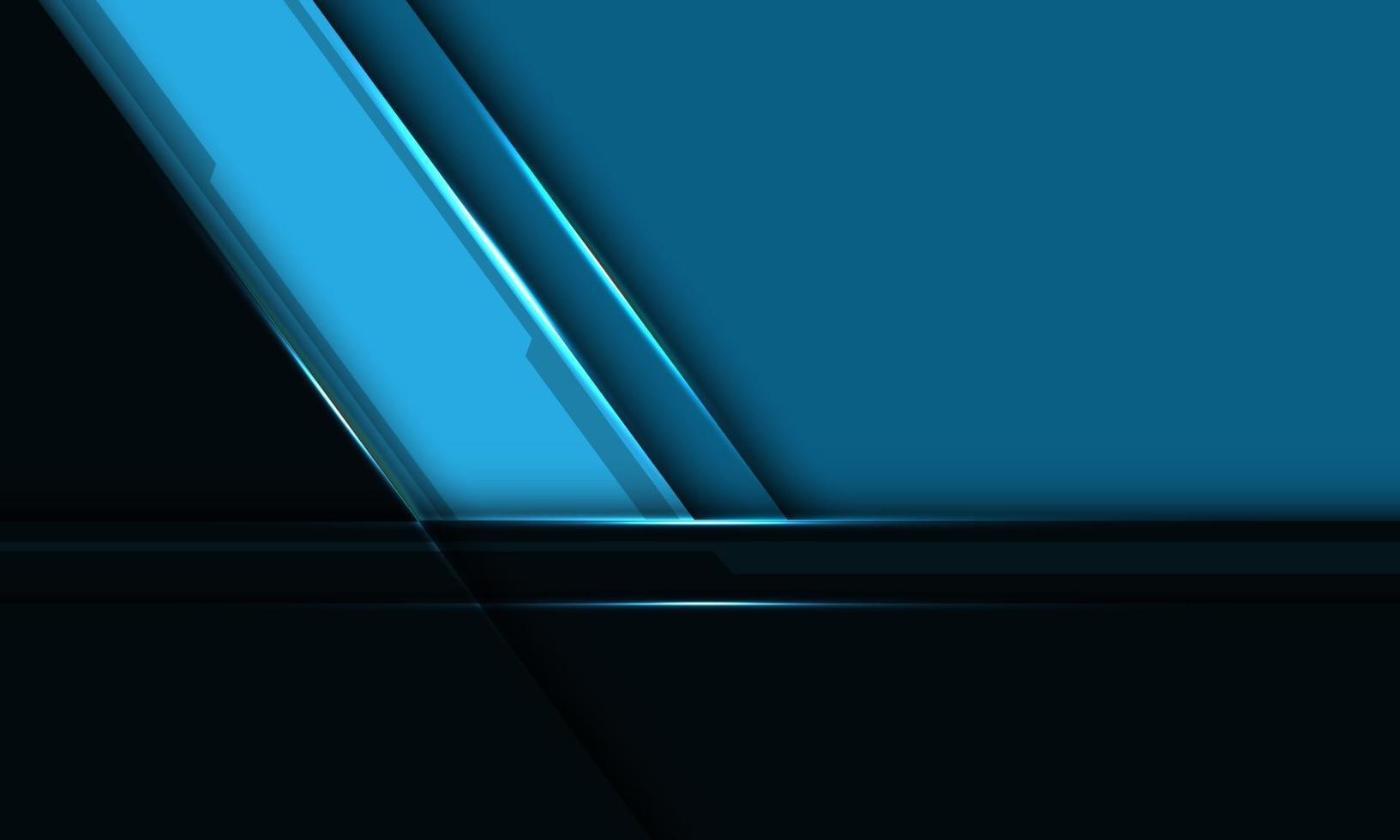 abstrakt blå svart metalliskt snedstreck överlappar med tomrumsdesign modern futuristisk bakgrundsvektorillustration. vektor