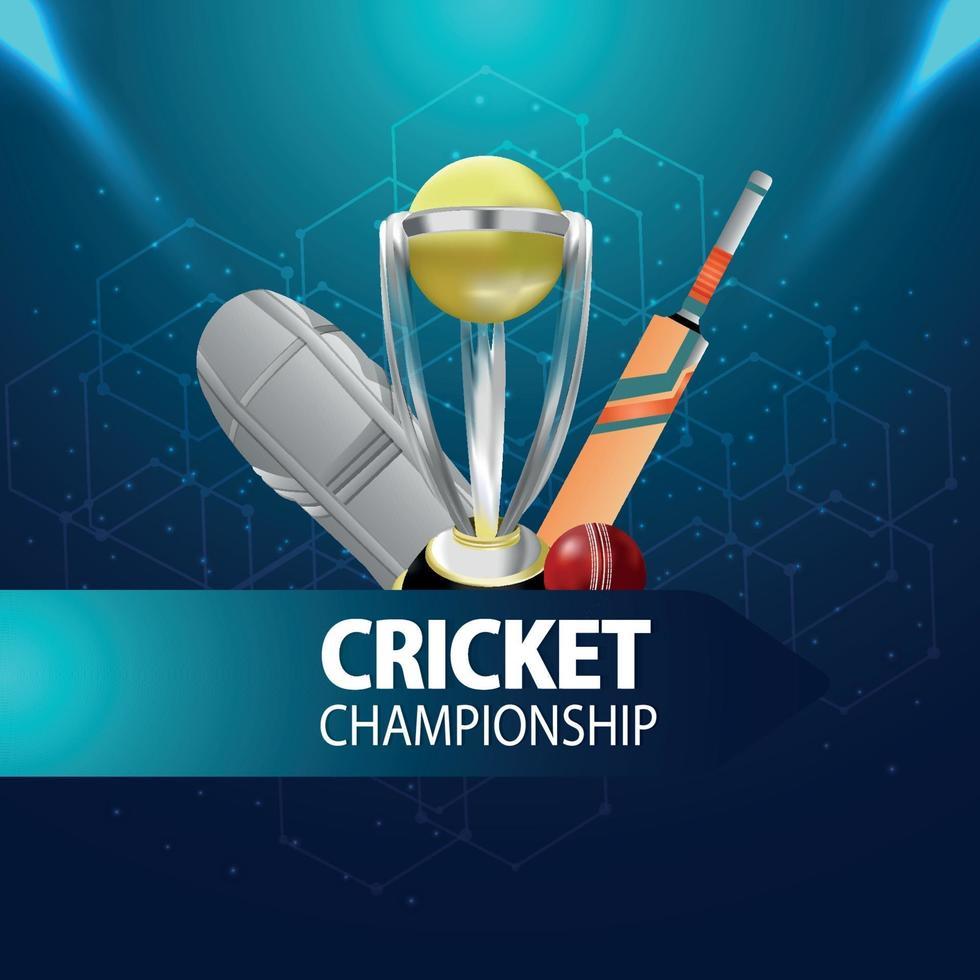 Cricket-Meisterschaftsspielkonzept vektor
