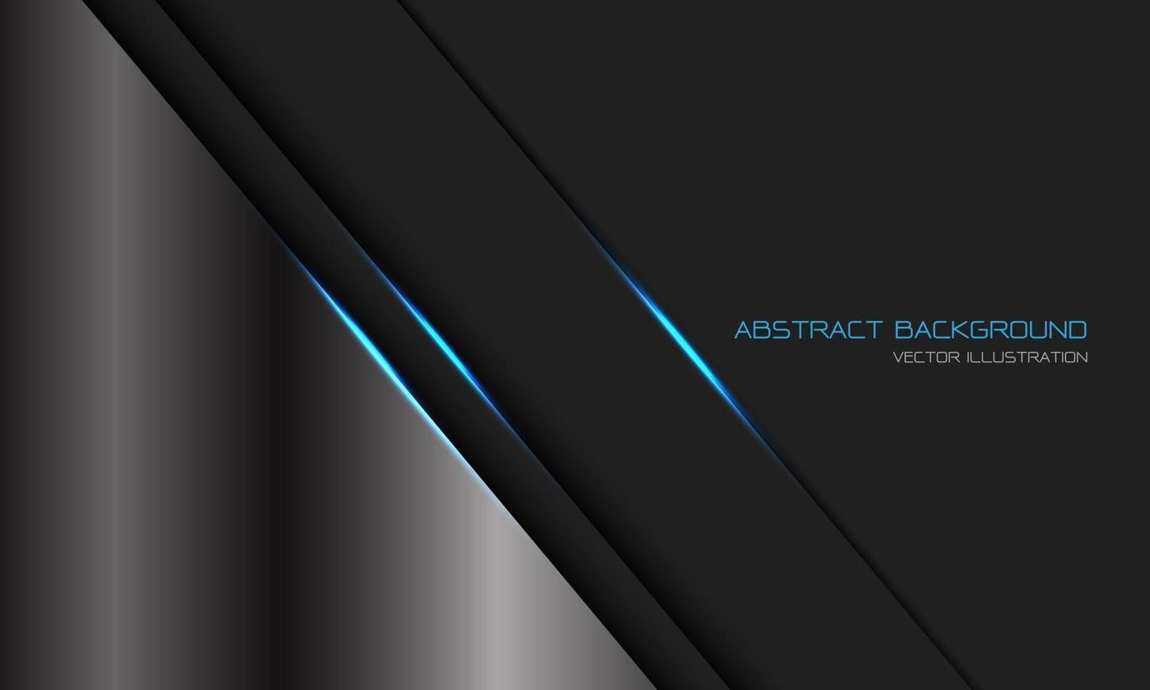 abstrakt silver mörkgrå metallblått ljuslinje snedstreck med tomrumsdesign modern lyx futuristisk teknik bakgrund vektorillustration. vektor