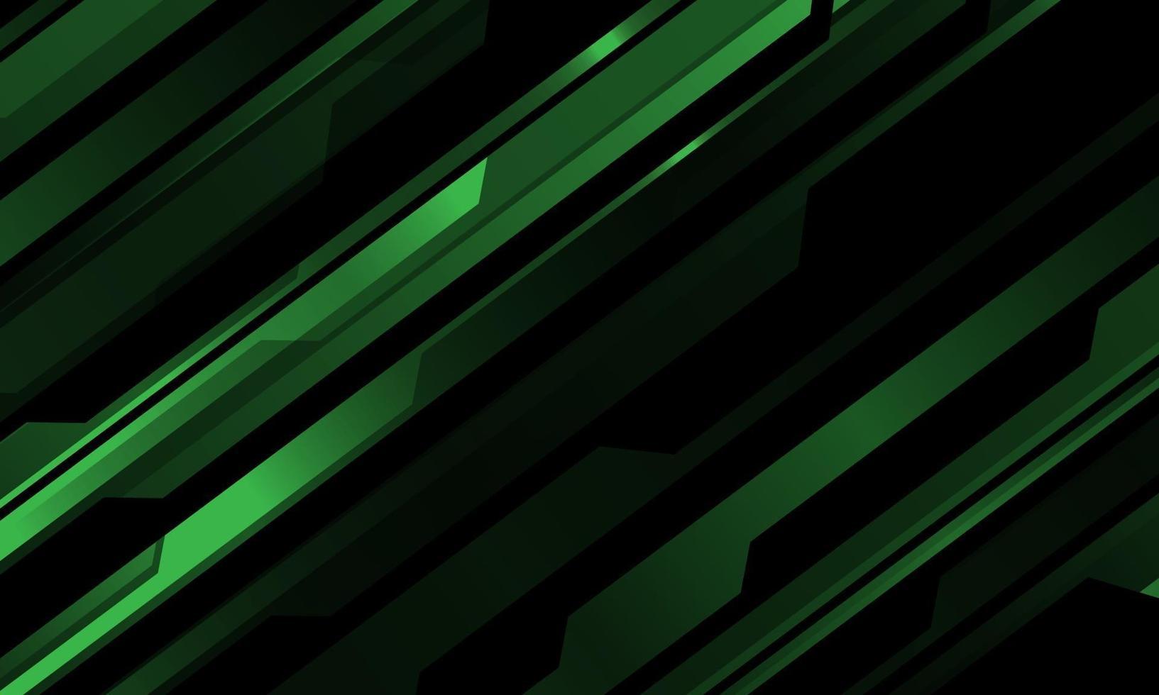 abstrakt grönt metalliskt cybermönster på svart design modern teknik futuristisk bakgrundsvektorillustration. vektor
