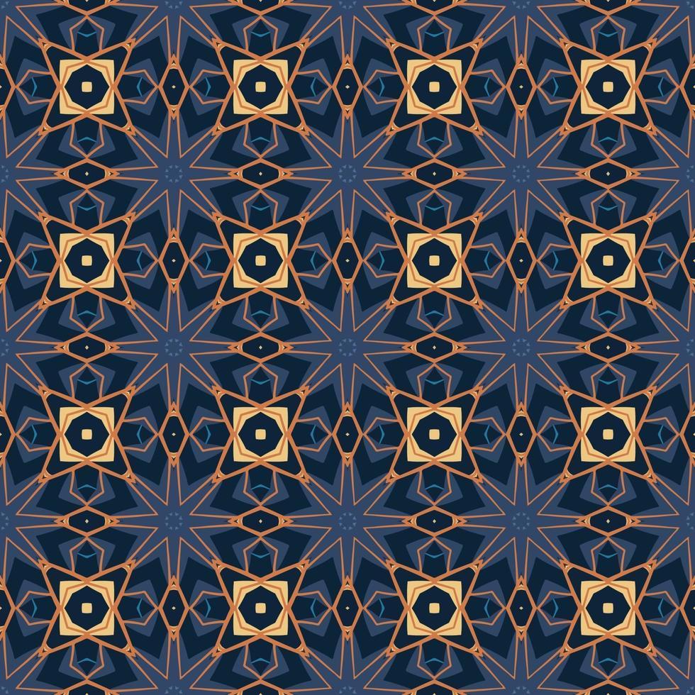 nahtloses Muster mit abstrakter Mandala-Zierarabeskenillustration. dekoratives klassisches Fliesenmuster. vektor