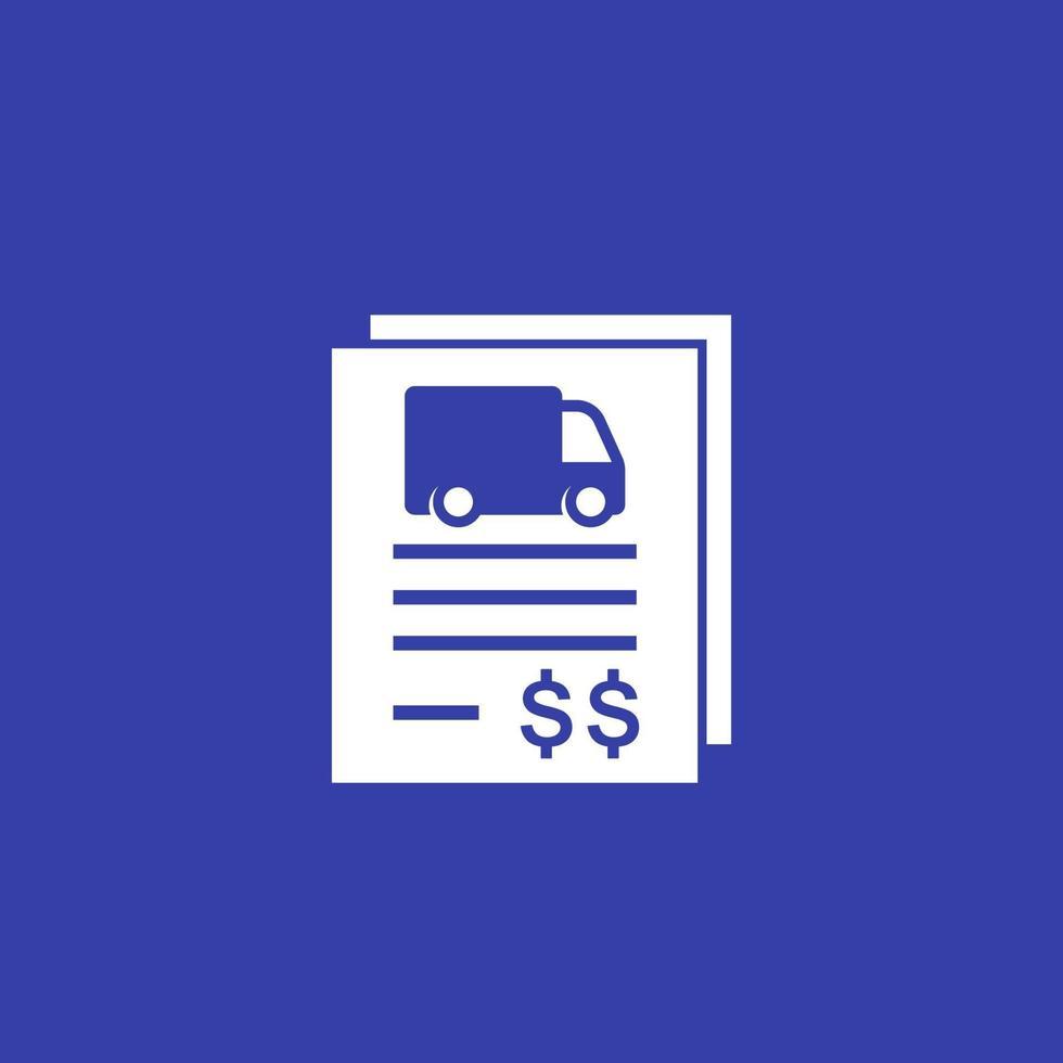 transportkostnad ikon med en lastbil vektor