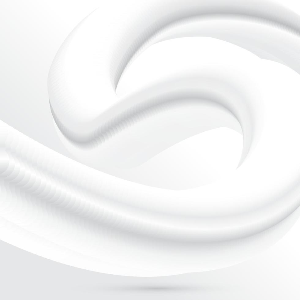 abstrakter weißer Hintergrund mit fließendem Mischungsdesign vektor