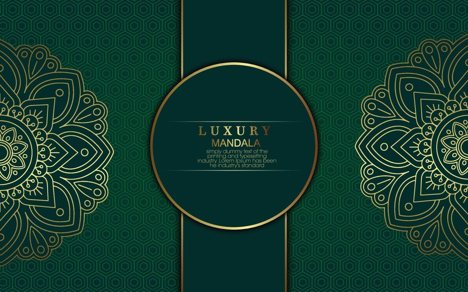 Luxus-Mandala-Musterhintergrund mit goldener Arabeske vektor