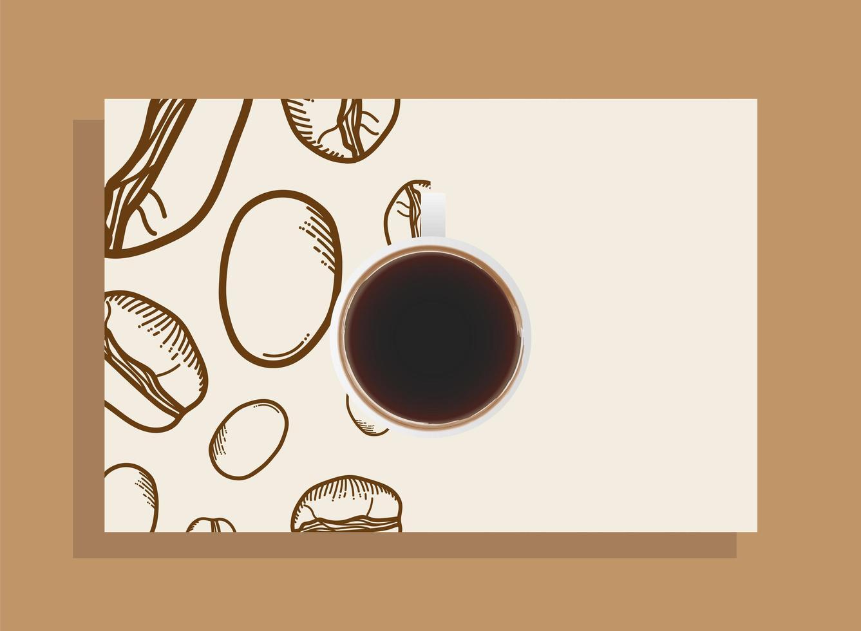 Tasse Kaffee Draufsicht vektor