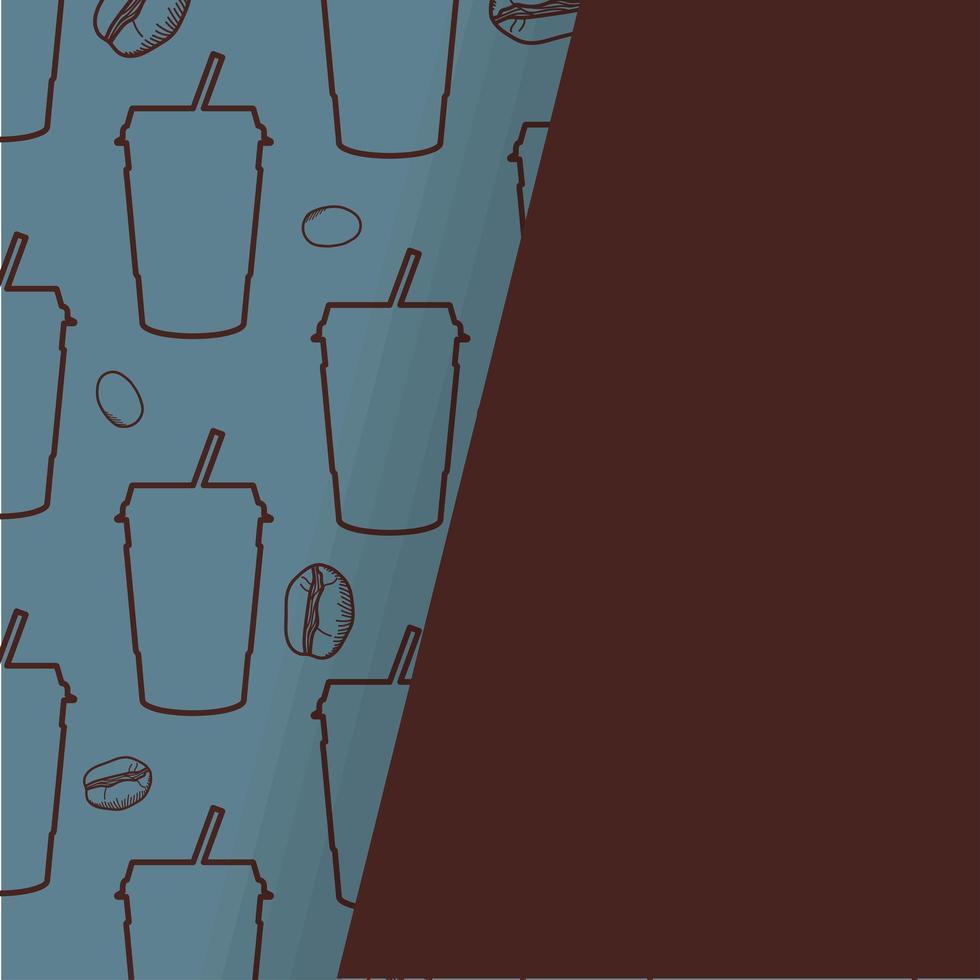 Kaffeetasse Muster Hintergrund vektor