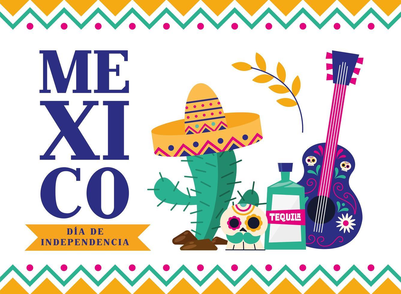 mexikanische Unabhängigkeitstag Banner vektor