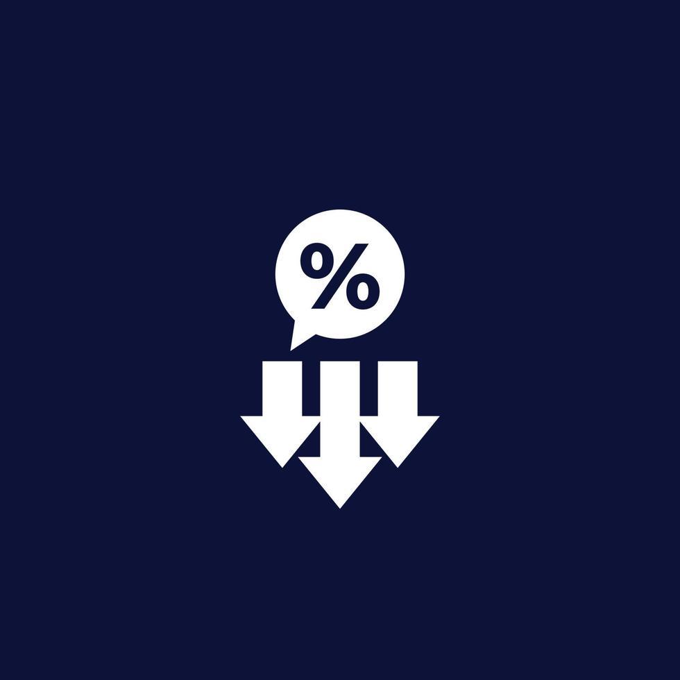 vinstminskning, minskning vektor ikon