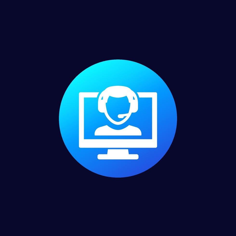 online kundservice ikon vektor