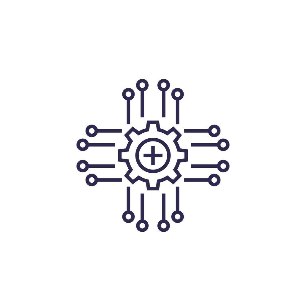 ram ikon, vektor linje design