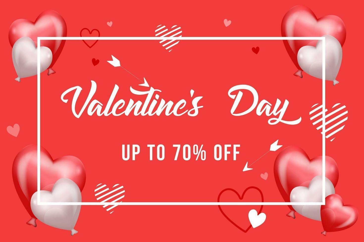 Valentinstag Verkauf Design Konzept Hintergrund Vektor-Illustration vektor