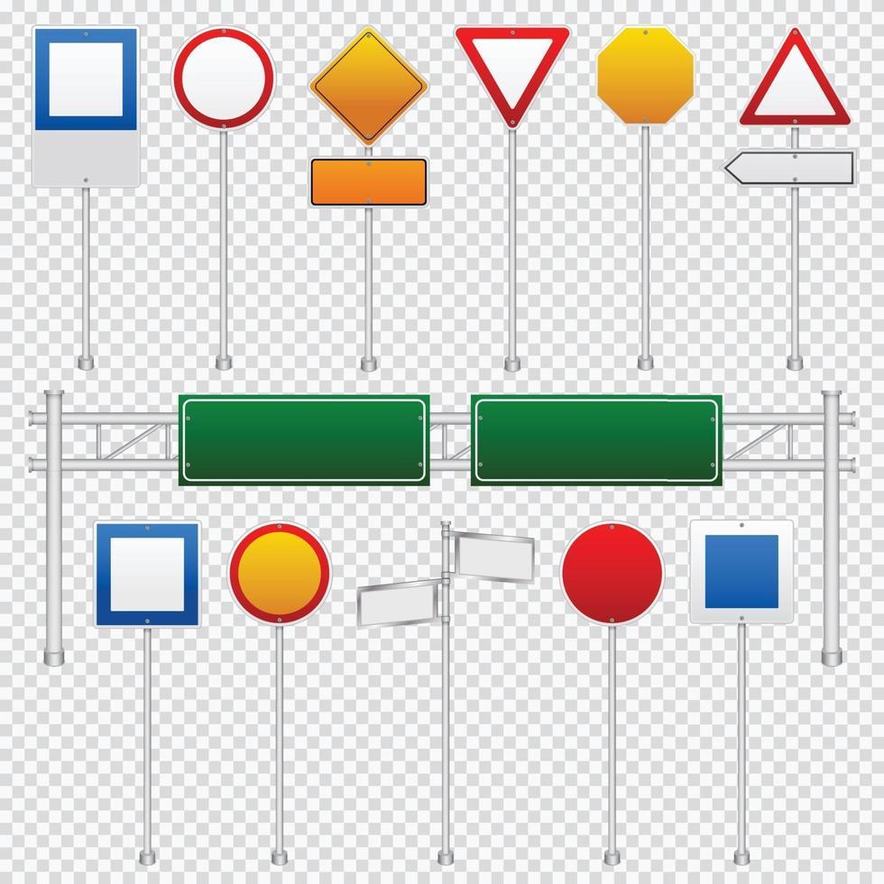 trafikskylt färguppsättning vektor