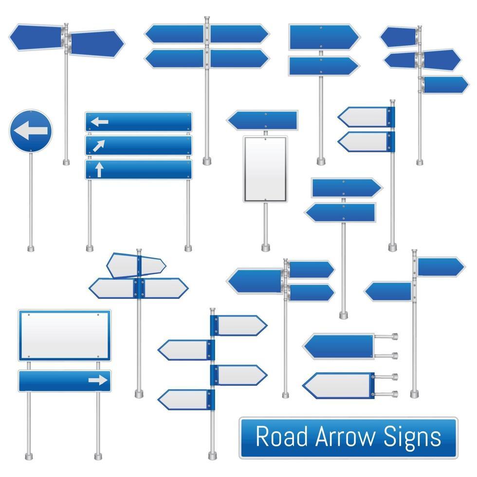 vägmärken pekaren piluppsättning vektor