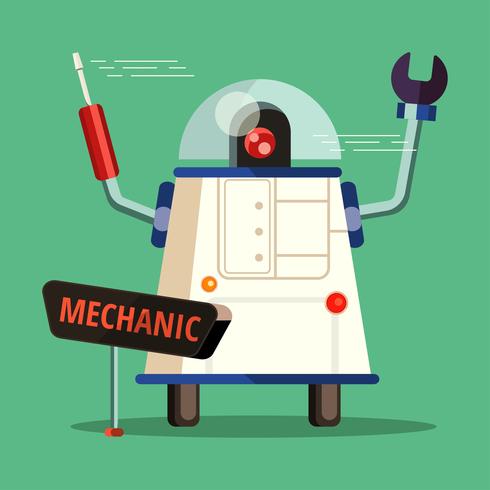 AI Mechaniker Charakter vektor