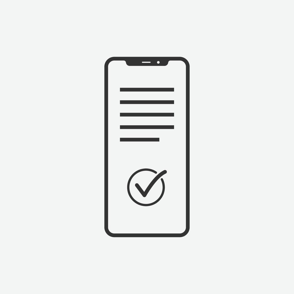 Online-Kaufvektor isoliert Symbol auf grauem Hintergrund vektor