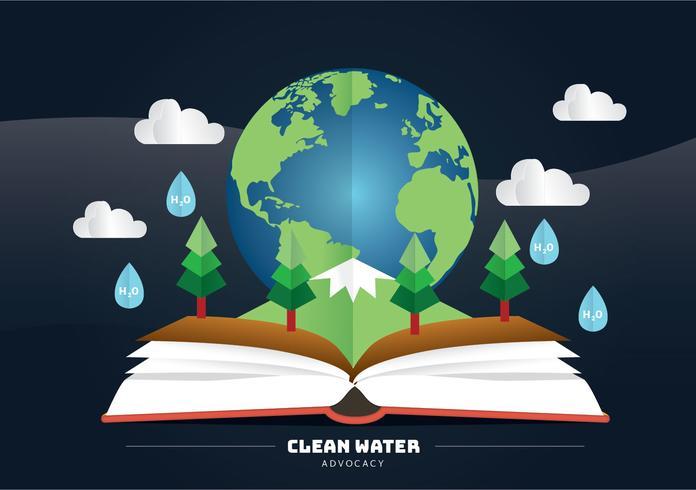 Sauberes Wasser Advocacy Vector Design