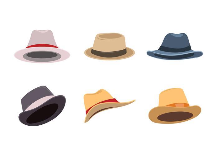 Set Vintage Kentucky Derby Hüte vektor