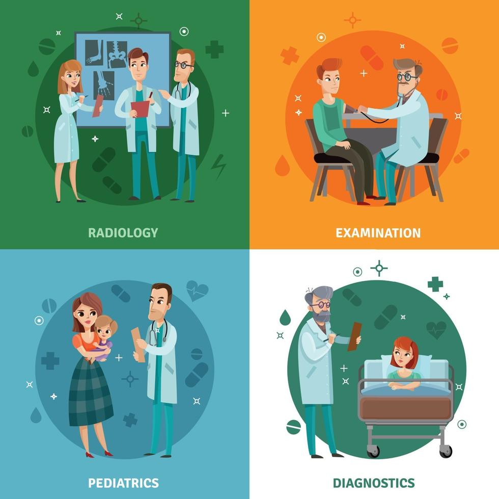 läkare patient design koncept vektor