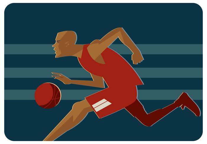 Basketball-Spieler-Vektor vektor