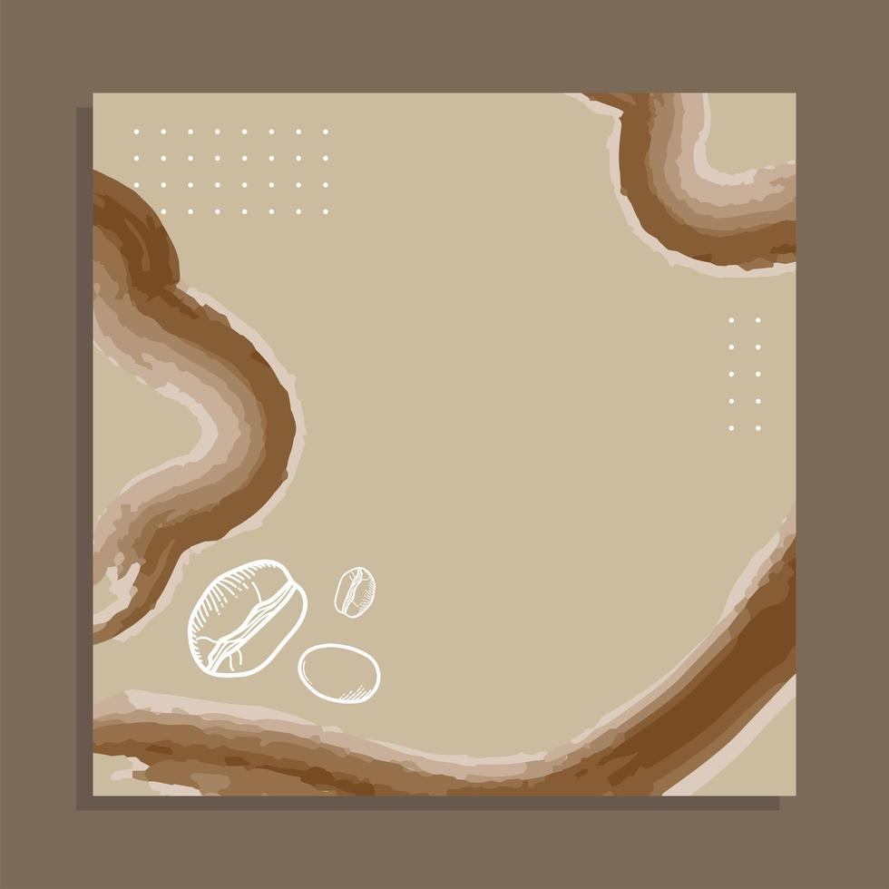 Kaffeebohnen Papierrahmen Vektor-Design vektor