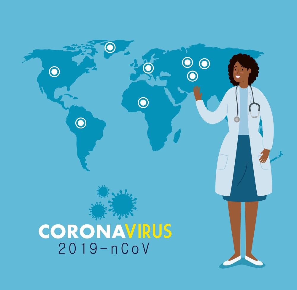 läkare för en coronavirusbanner vektor