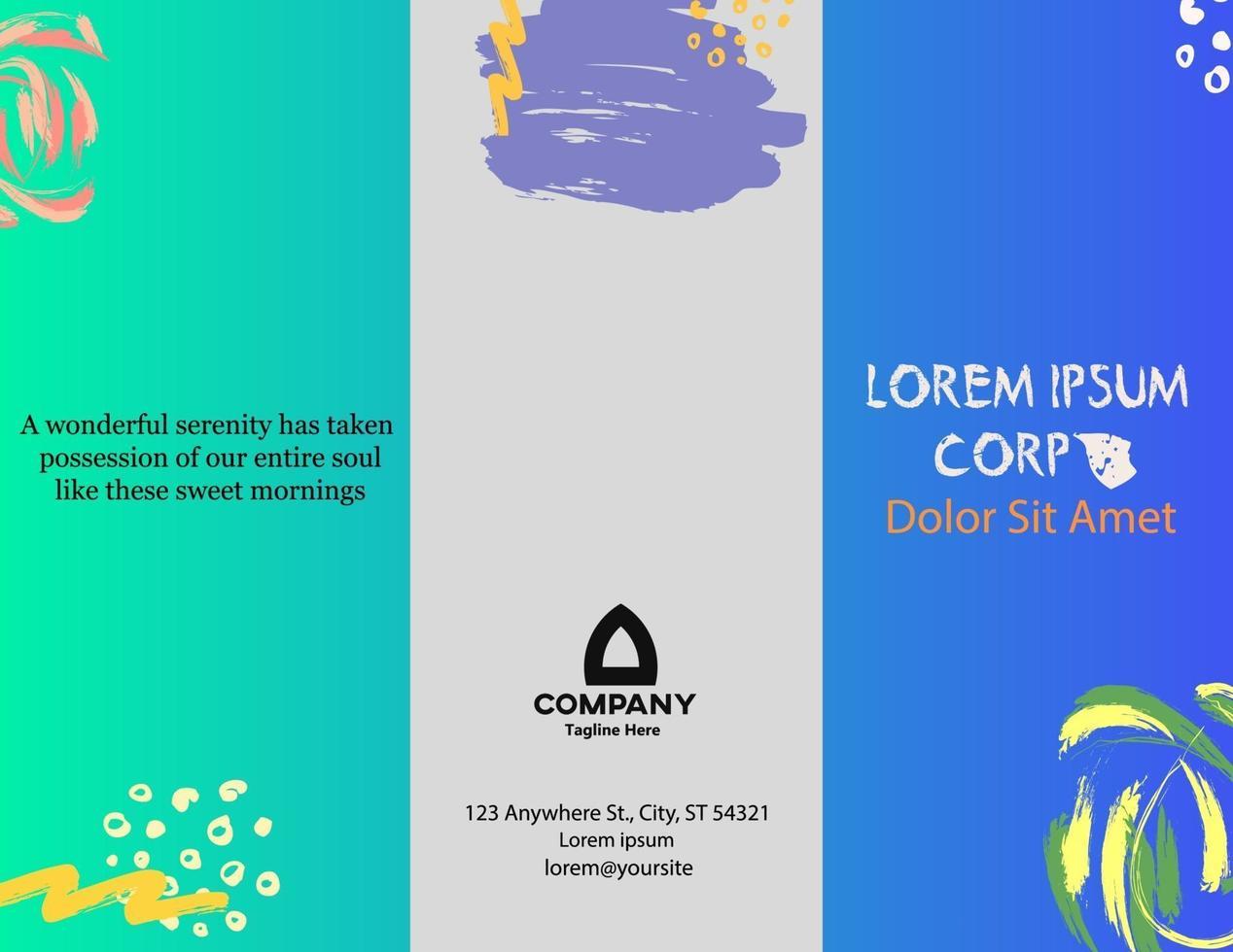 moderne Design Aquarell Broschüre Cover Layout Vektor Vorlage