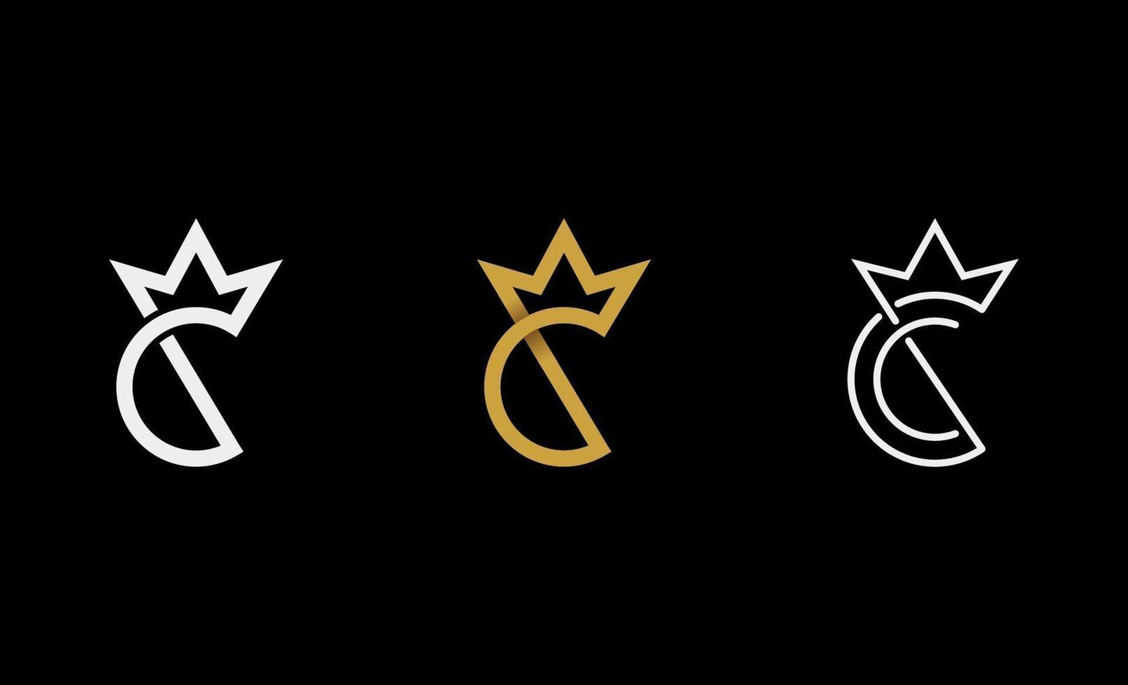 c König Royal Logo Design Vektor-Illustration vektor