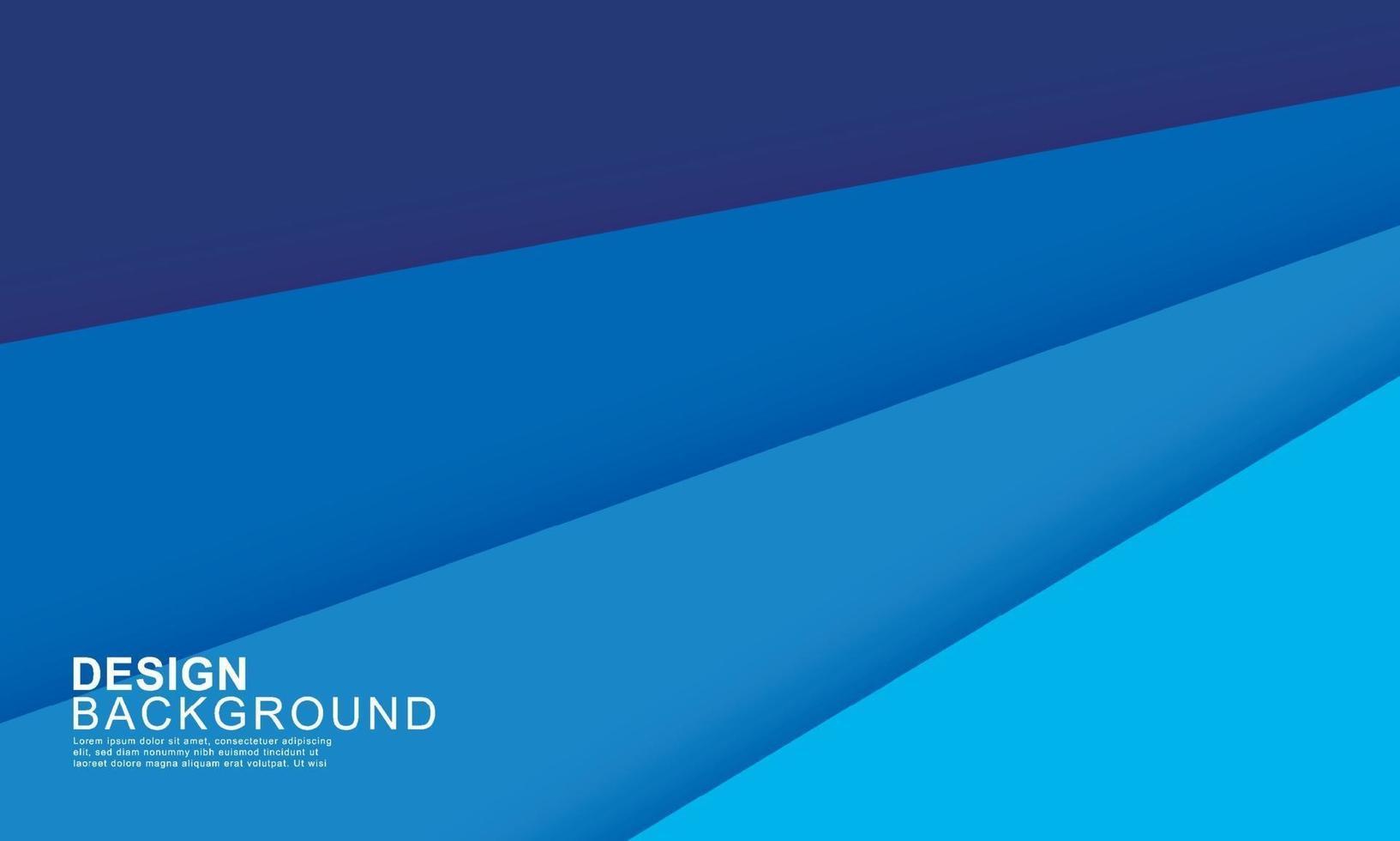 Papierschicht blau abstrakten Hintergrund. Verwendung für Banner, Cover, Poster, Tapete, Design mit Platz für Text. vektor