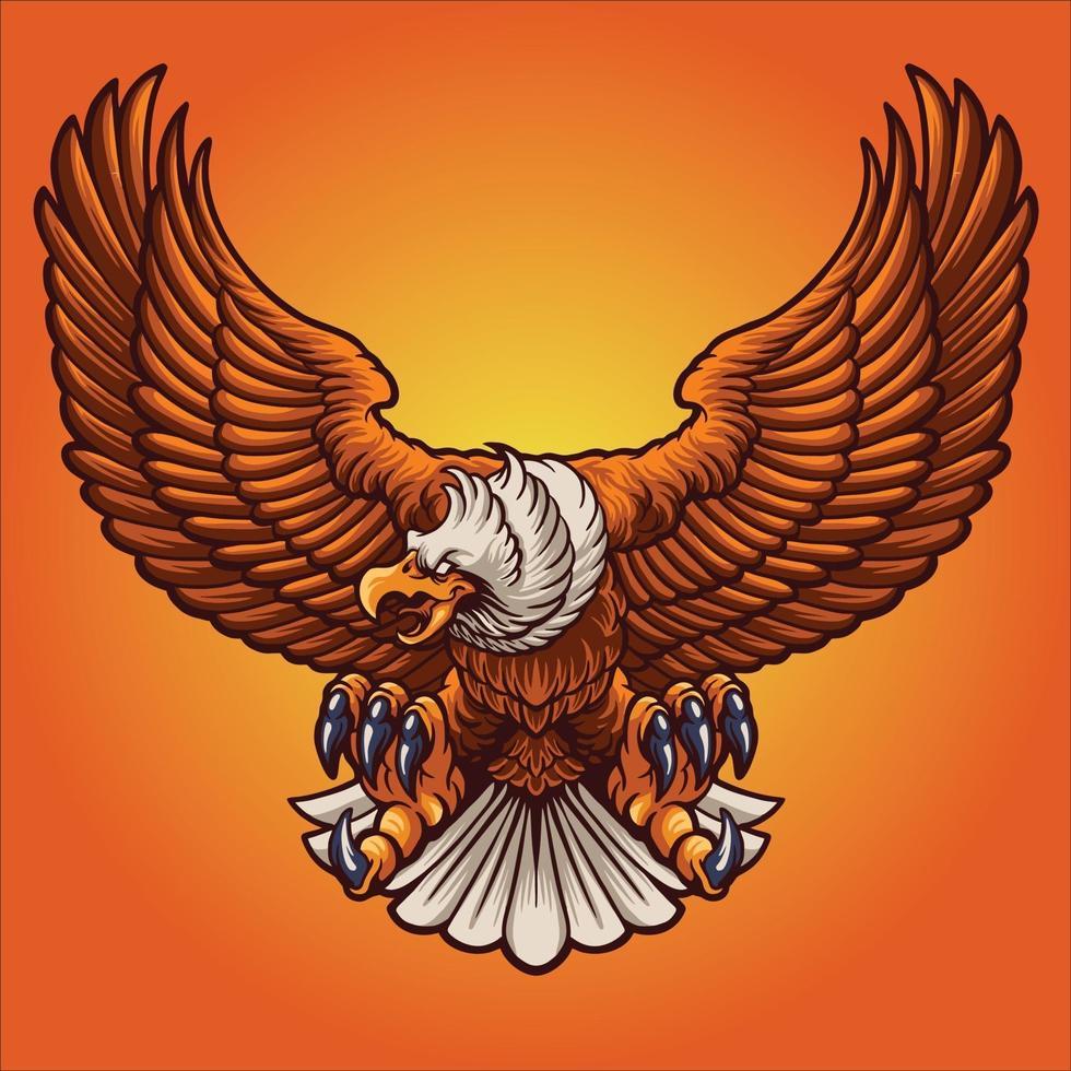 starke Adler Maskottchen Vektor-Illustration vektor