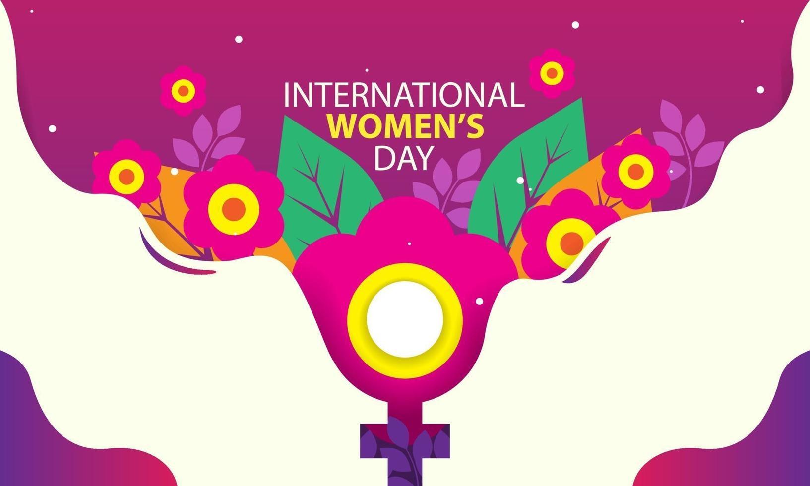 internationell kvinnodag konceptillustration med blommigt tema vektor